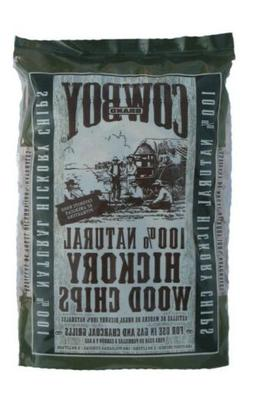 Cowboy Charcoal 100% Natural Hickory Wood Chips for Grills a