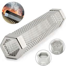 "Pellet Hexagon Smoker Tube 12"" Smoke Grill or Smoker for Hot"