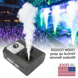 1500W Vertical Stage Fog Smoke Machine Smoker Upspray Fogger