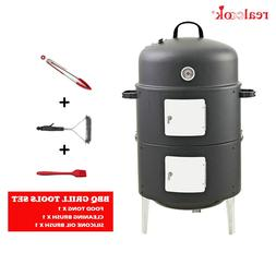 "Realcook 17"" Steel <font><b>Vertical</b></font> BBQ Charcoal"