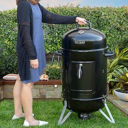 "18"" inch Portable Round Charcoal Smoker Vertical BBQ Grill B"