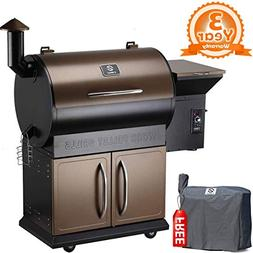 Z GRILLS 2018 Upgrade Deluxe Wood Fired Pellet Outdoor 8 in