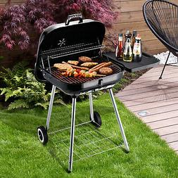 "Outsunny 22"" Camping BBQ Smoker Portable Steel Charcoal Gril"