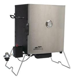Masterbuilt Portable Propane Smoker in Stainless Steel  BRAN