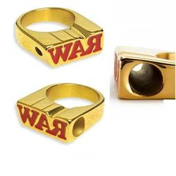 RAW Rolling Papers 24K GOLD PLATED SMOKER RING - Limited Edi