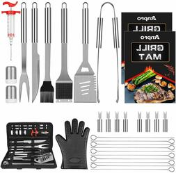 31 PCS Stainless Steel Grilling Accessories for Smoker,Campi