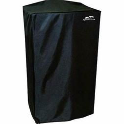"40"" Heavy-Duty, And Reinforced Polyester Smoker Cover, Black"