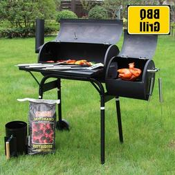 "Outsunny 48"" Steel Portable Backyard Charcoal BBQ Grill and"