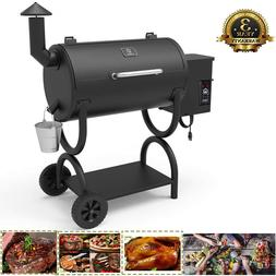 Z GRILLS Wood Pellet BBQ Grill and Smoker with Digital Tempe