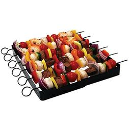 Brinkmann 6 BBQ SHISH KABOB SKEWERS AND FOLDABLE RACK SET