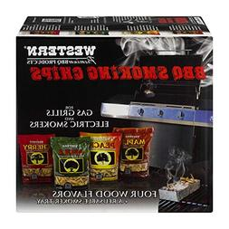 WESTERN 80485 Prime Wood BBQ Smoking Chips Variety Pack, New
