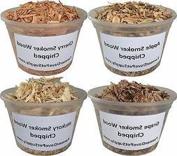 Hickory-Cherry-Apple-Grape Smoker Wood Chips Variety Pack