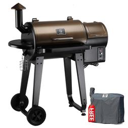 Z GRILLS Wood Pellet BBQ Grill and Smoker with Auto Temp Con