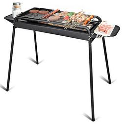 Barbecue Charcoal Grill Height Adjustable Stove BBQ Cooker S