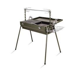 XAJGW BBQ Charcoal Grill and Offset Smoker, 26'' L, Outdoor