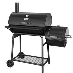 Royal Gourmet BBQ Charcoal Grill with Offset Smoker, 30'' L,