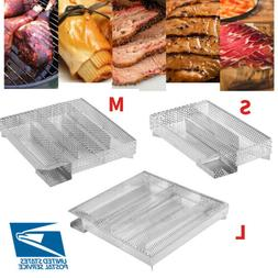 BBQ Cold Smoker Generator Grill Cooking Tool Smoking Meat Ba