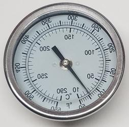 "Pit Boss BBQ Grill Smoker Thermometer Gauge 3"" Dial 2.5"" Ste"