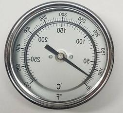 "Pit Boss BBQ Grill Smoker Thermometer Gauge 3"" Dial w/ 2.5"""