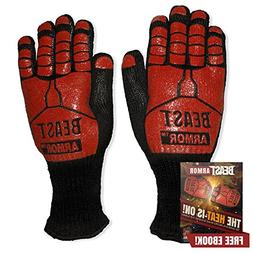 Grill Beast BBQ Grilling Cooking Gloves - Heat Resistant & S