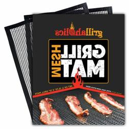 Grillaholics BBQ Mesh Grill Mat - Set of 2 Grill Mats Non St