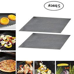 BBQ Mesh Mat Grill Tool Non Stick Set of 2 Grilling Mat For