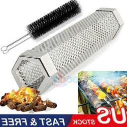"BBQ Pellet Smoker Tube 12"" Smoke Generator for Hot cold smok"