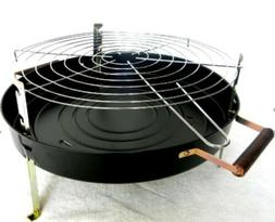 "BBQ-PRO 2-in-1 18"" Round Charcoal Grill BarBeQue Portable St"