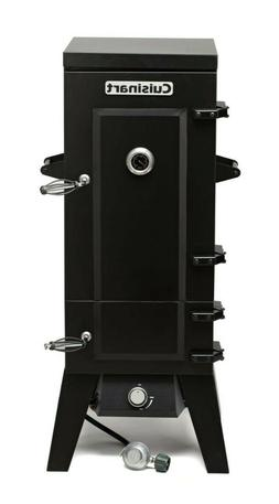 Cuisinart Black Piezo Ignition Gas Vertical Smoker with Dual