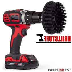 Black-Ultra Stiff Drill Brush For Stone Cleaning,Paint Strip