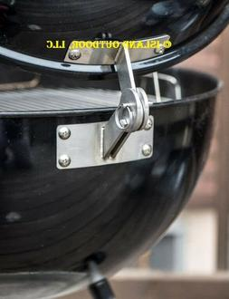LIMITED EDITION Stainless Weber KETTLE Lid Hinge Mod smoker