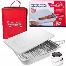 Budweiser Stovetop Smoker The Original SS Smoker with Wood C