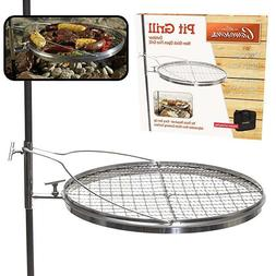 Campfire Swing Grill Hunting Outdoor Cooking Eating Grill Sm