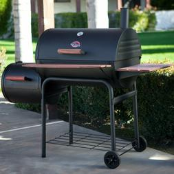 Char-Griller 1224 Smokin Pro 830 Square Inch Grill w/ Side F