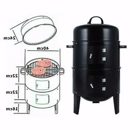 Charcoal BBQ Smoker Grill -  Vertical Smoker for Outdoor Coo