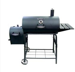 "Charcoal Grill And Smoker 29"" Black Barbecue Patio Garden Ou"