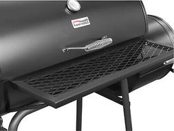 Charcoal Grill with Smoker 27 Barrel Outdoor Cooking Barbecu