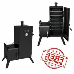 Charcoal Smoker Vertical Offset Outdoor Cooker Barbecue BBQ