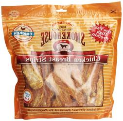 Smokehouse 100-Percent Natural Chicken Breast Strips Dog Tre