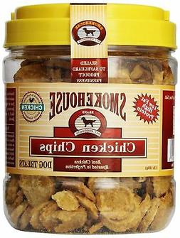 Smokehouse 100-Percent Natural Chicken Chips Dog Treats, 1-P