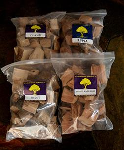 J.C.'s Smoking Wood Chunks - Premium 4 PK Gallon Sized bag o