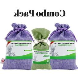 Combo Pack. Bamboo Charcoal Deodorizer Bag Bundle with Power