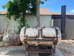 Custom 320 Gallon Double Rack Smoker with Offset Firebox