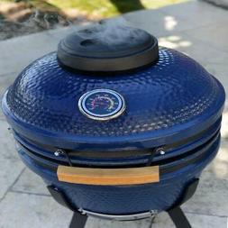 "Lifesmart Deen Brothers Series 15"" Blue Kamado Ceramic Grill"