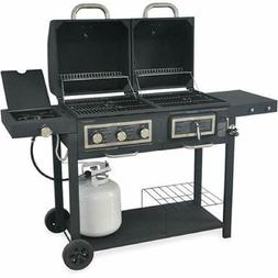 Durable Outdoor Barbeque & Burger Gas/charcoal Grill Combo C