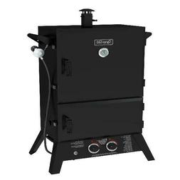 "Dyna-Glo 36"" Wide Body LP Gas Smoker 4 Height Adjustable Coo"