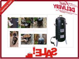 Electric Water Smoker Grill 2-in-1 Vertical Interlocking Bas