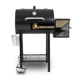 Electric Wood Pellet Outdoor Grill Flame Broiler Meat Probe