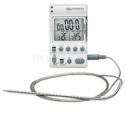 Brinkmann Electronic Cooking Thermometer Timer BBQ Roasts Sm