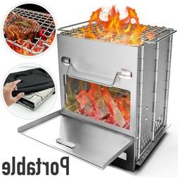 Foldable BBQ Grill Smoker Plans Portable Camping Barbecue Co